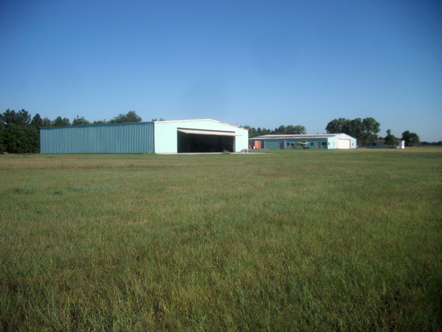 The GliderPort Hangars as seen from the SE standing on the runway